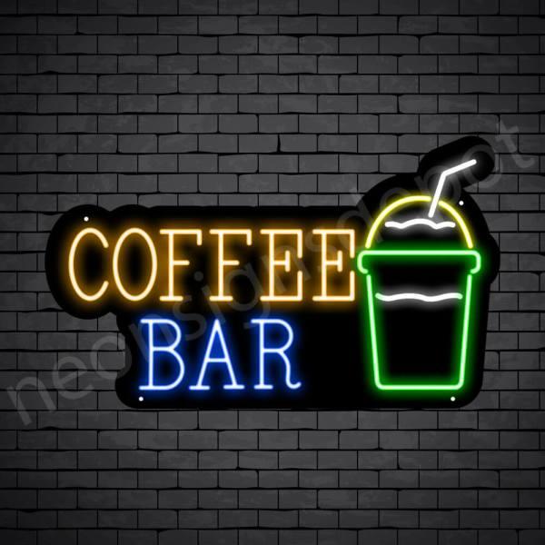 Coffee Neon Sign Coffee Bar Black - 30x18