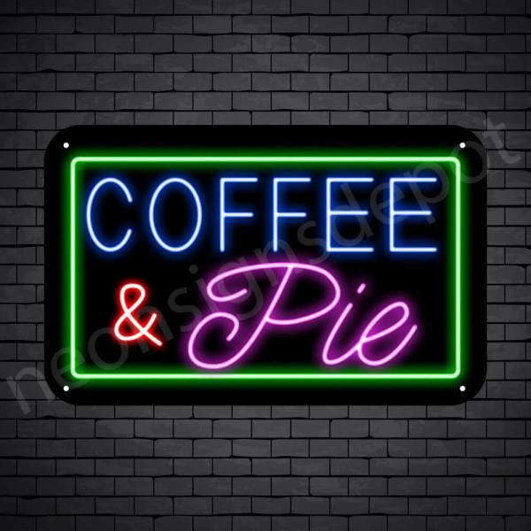 Coffee Neon Sign Coffee & Pie Back 24x15