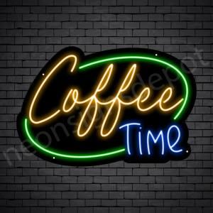 Coffee Neon Sign Coffee Time Black 24x16