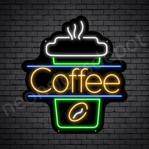 Coffee Neon Sign Cup Coffee Black 22x24