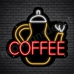 Coffee Neon Sign Kittle Coffee Black 24x23