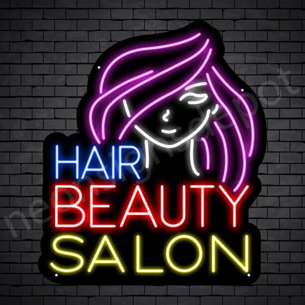 Hair Salon Neon Sign Hair Beauty Salon Black -21x24