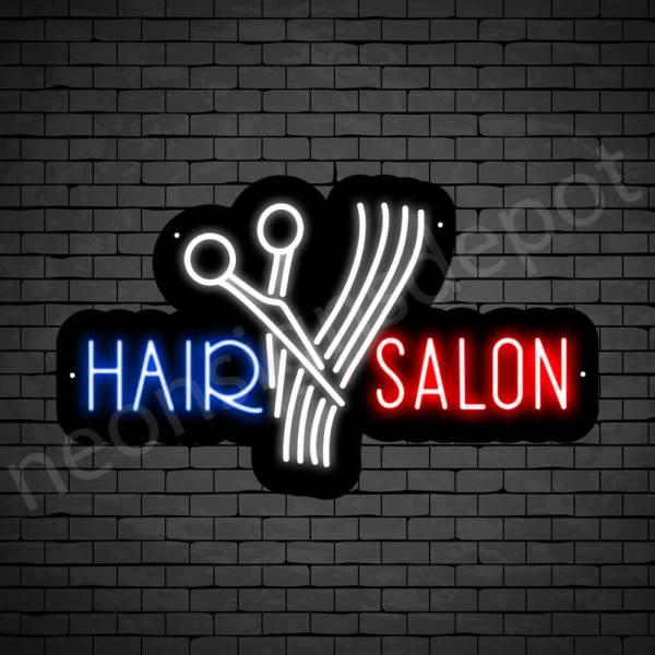 Hair Salon Neon Sign Cut Hair Salon Black 24x15