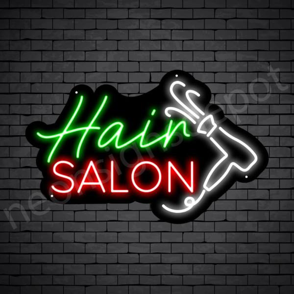 Hair Salon Neon Sign Hair Salon Blower Black 24x15