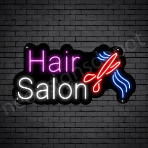 Hair Salon Neon Sign Hair Salon Cut Black 24x12