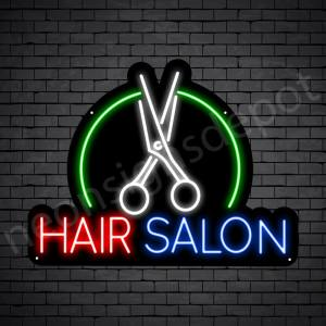 Hair Salon Neon Sign Hair Salon Cutter Black 24x18