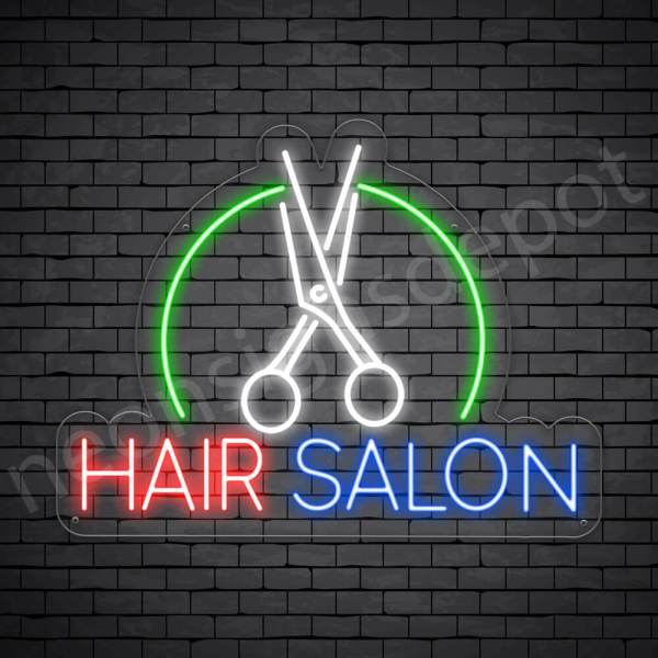 Hair Salon Neon Sign Hair Salon Cutter Transparent 24x18