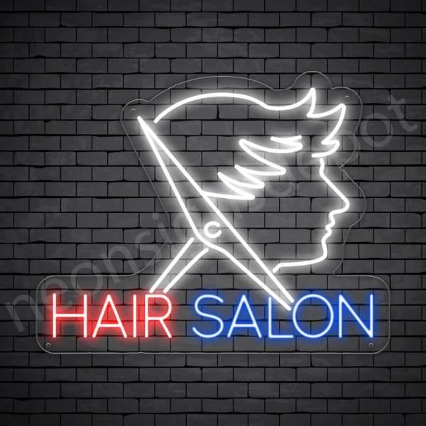 Hair Salon Neon Sign Men Hair Salon Transparent - 24x19
