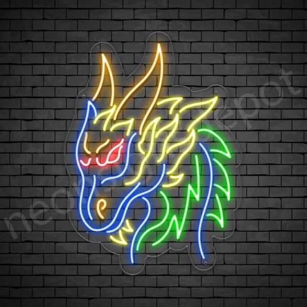 Dragon Neon Sign Barbarian Dragon Transparent 18x24