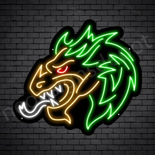 Genie Dragon Neon Sign Black