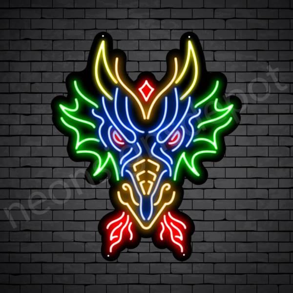 Dragon Neon Sign Head of Dragon Sign Sackman Dragon
