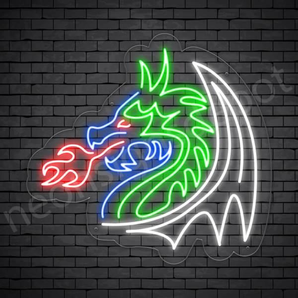 Tuber Dragon Neon Sign Transparent