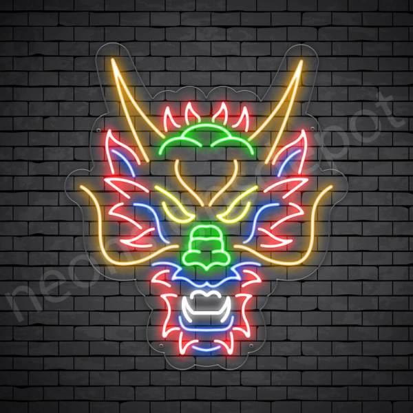 Sackman Dragon Neon Sign Transparent
