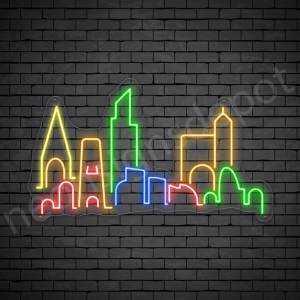 City Skyline Neon Sign