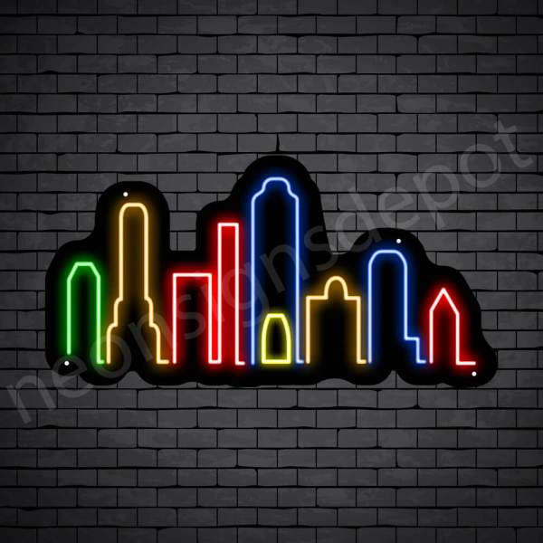 New Jersey City Neon Sign Black