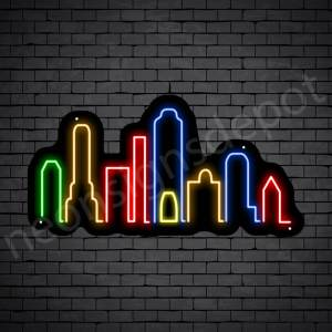 New Jersey City Neon Sign Black