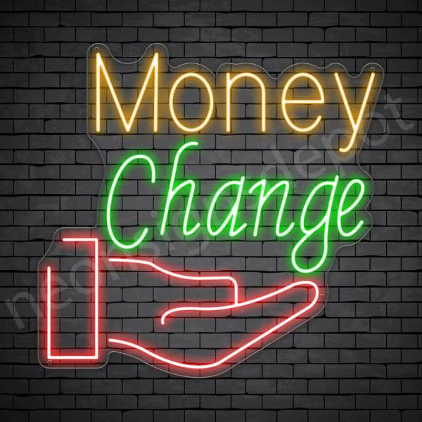 Money Change Express Neon Sign - transparent