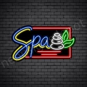 Stones Spa Neon Sign - Black