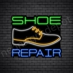 Shoe White Repair Neon Sign - Black