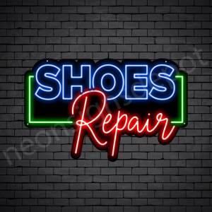 Shoes OL Repair Neon Sign - Black