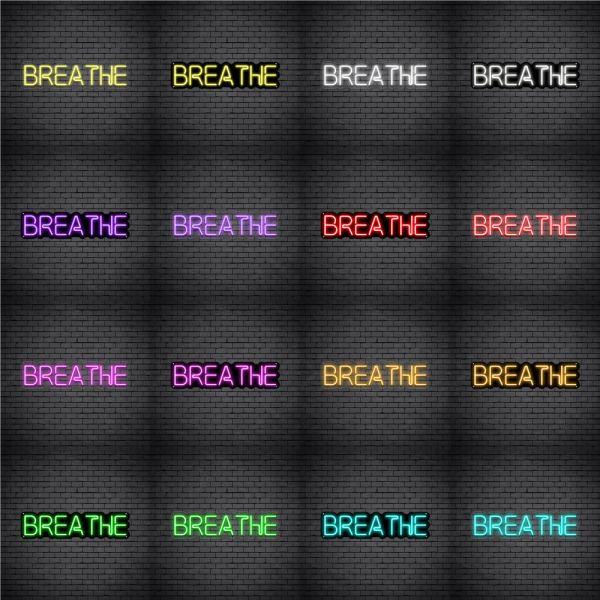 Breathe V2 Neon sign