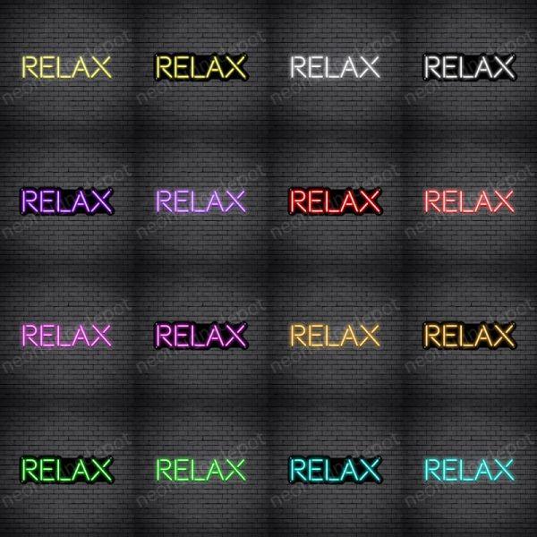 Relax V2 Neon Sign