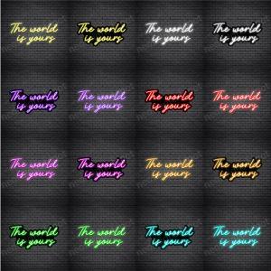 The World Is Yours V1 Neon Sign