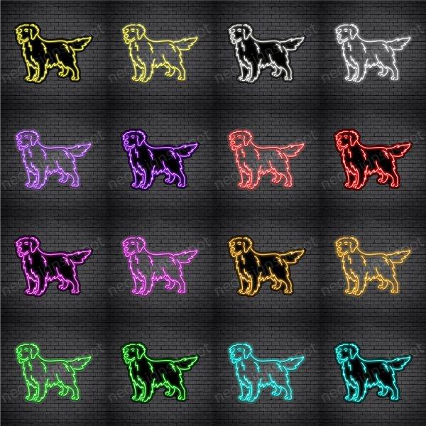 Golden Retriever Dog V1 Neon Sign
