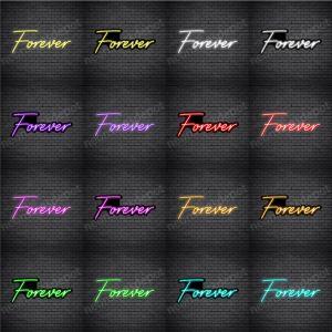 Forever V5 Neon Sign