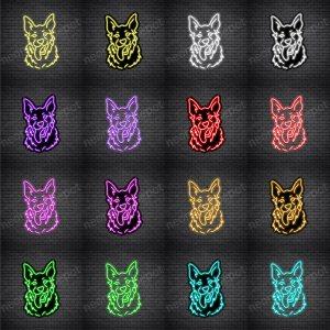German Shepherd Dog V2 Neon Sign