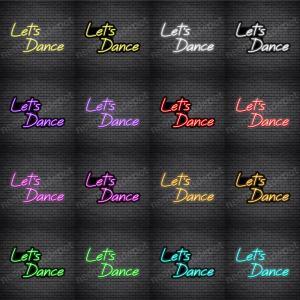 Let's Dance V5 Neon Sign