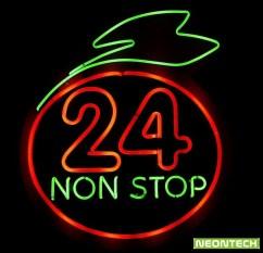 24nonstop neonsign