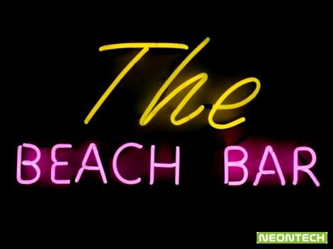 the beach bar neon