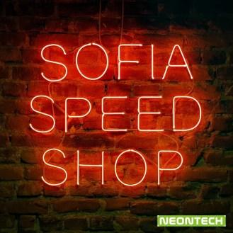 speed shop neon