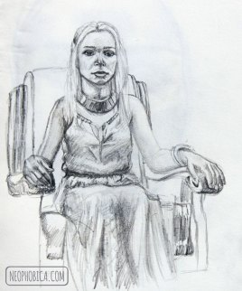 sketch session - Mother of Dragons