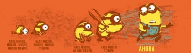evolucion de los minions