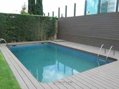tarima madera sintética composite piscinas