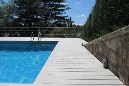 tarima madera sintetica piscina
