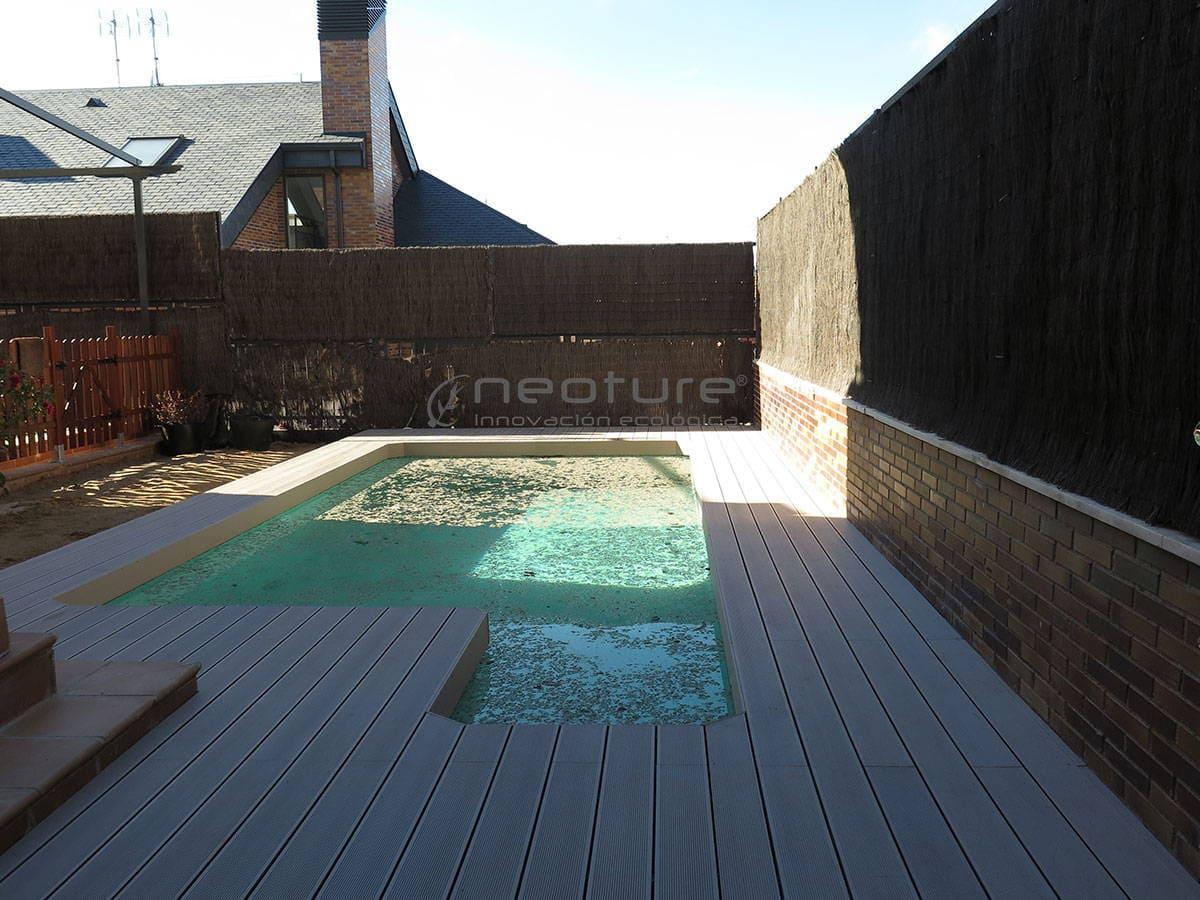 Tarima piscina en madera exterior composite - Tarima para piscinas ...