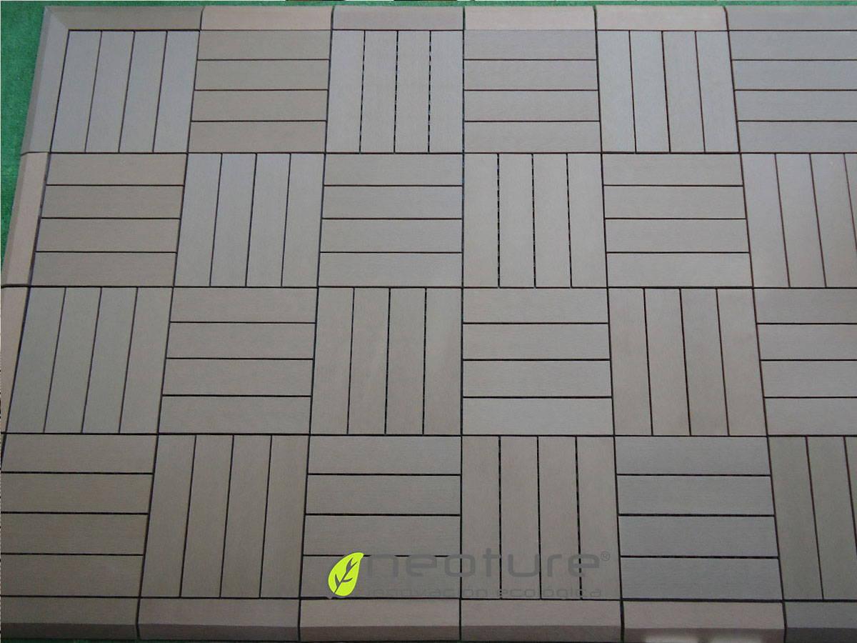 Baldosas de madera composite sin mantenimiento