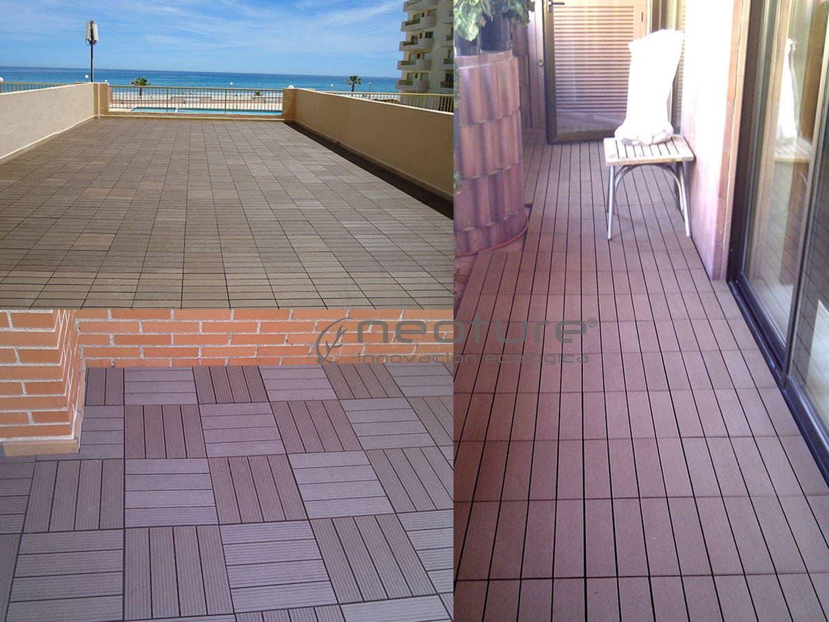 La baldosa composite para terraza el suelo de exterior for Baldosas de pared exterior