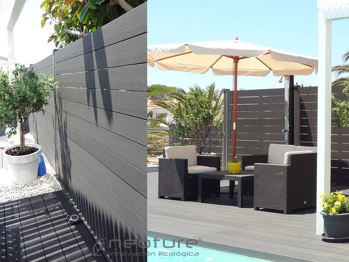 cerramiento terraza madera exterior sintetica sin zona de piscina