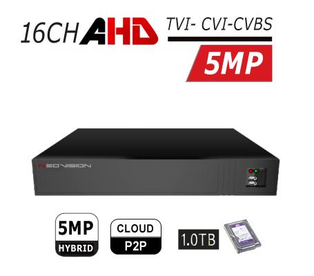 מכשיר הקלטה 16 ערוצים DVR AHD 5MP