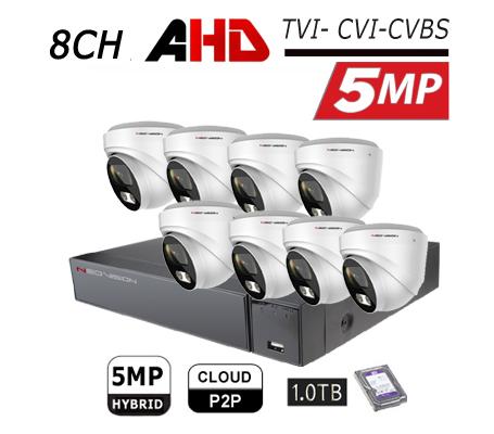 מערכת מצלמות אבטחה כיפה 5MP