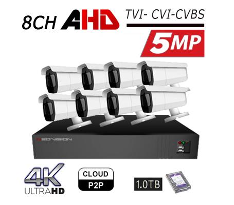 מערכת מצלמות אבטחה צינור 5MP
