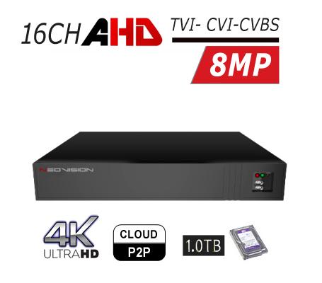 מכשיר הקלטה 16 ערוצים DVR AHD 4K
