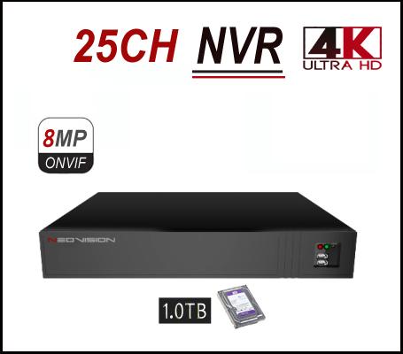 מכשיר הקלטה NVR 25CH 4K