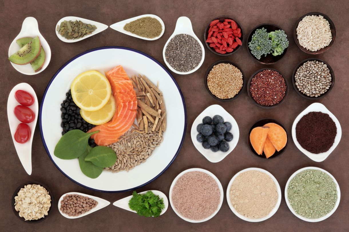 Healthy Foods on Plates