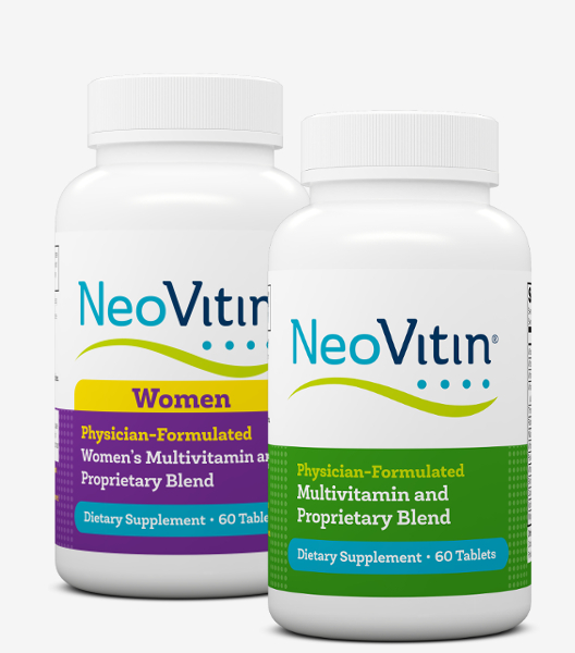 NeoVitin Original and Women Multivitamin Bottles Mobile