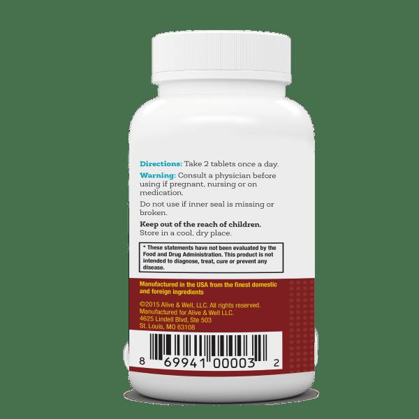 NeoVitin Womens 50 Plus Multivitamin Bottle Directions Panel